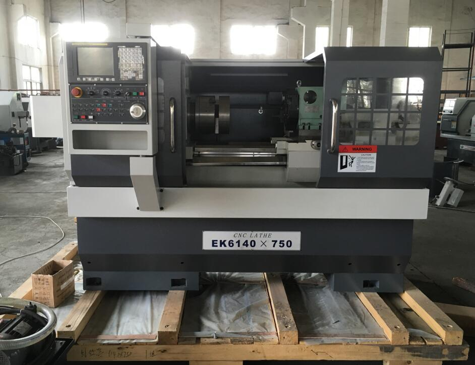 CNC Lathe with Flat Bed and Hardened Rail Ek6140X750