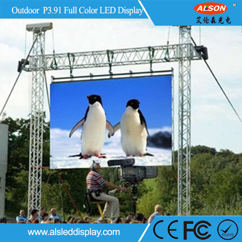 Outdoor Rental P3.91 LED Flat Screen TV for Live Showing