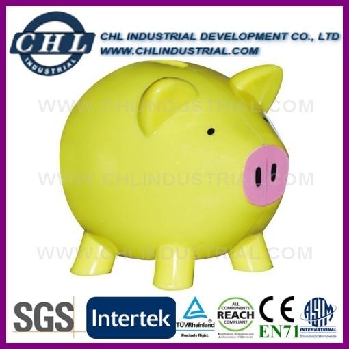 Customized Logo Animal Shape Manufacturer Plastic Saving Coin Bank