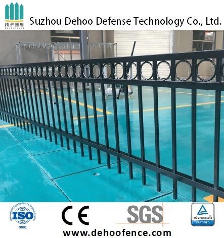 Ce/SGS Basic Interpon Powder Coated Galvanized Steel Garden Fence