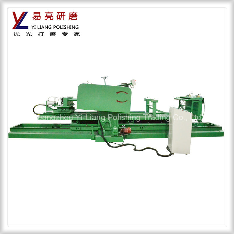 Round Pipe Double Shafts Fine Mirror Effect Finishing Polishing Machine