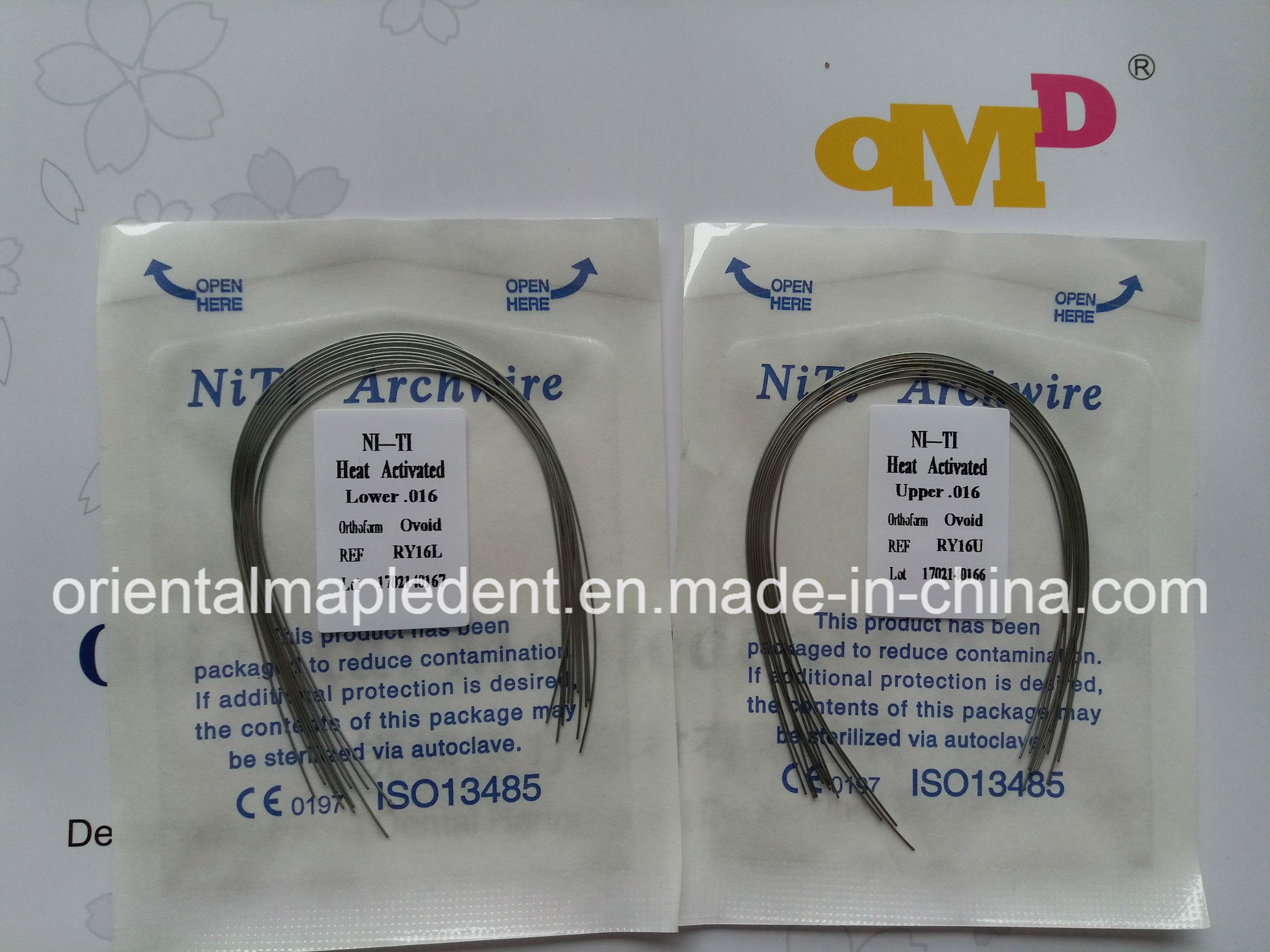 Dental Orthodontic Thermally Activated Niti Archwire (round)