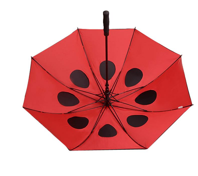 Black Rubber Straight Umbrella