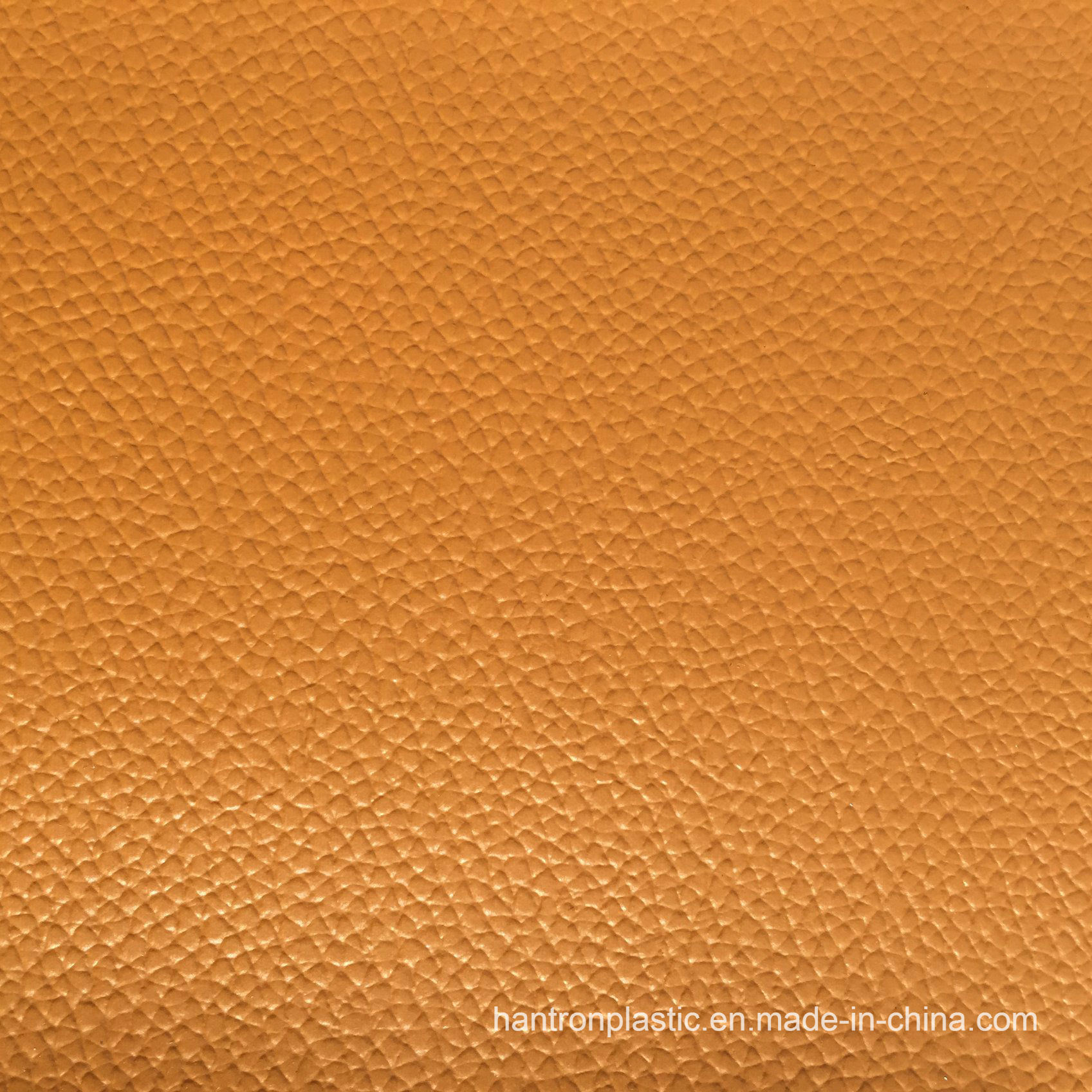 Yellow Big Grain PVC Leather