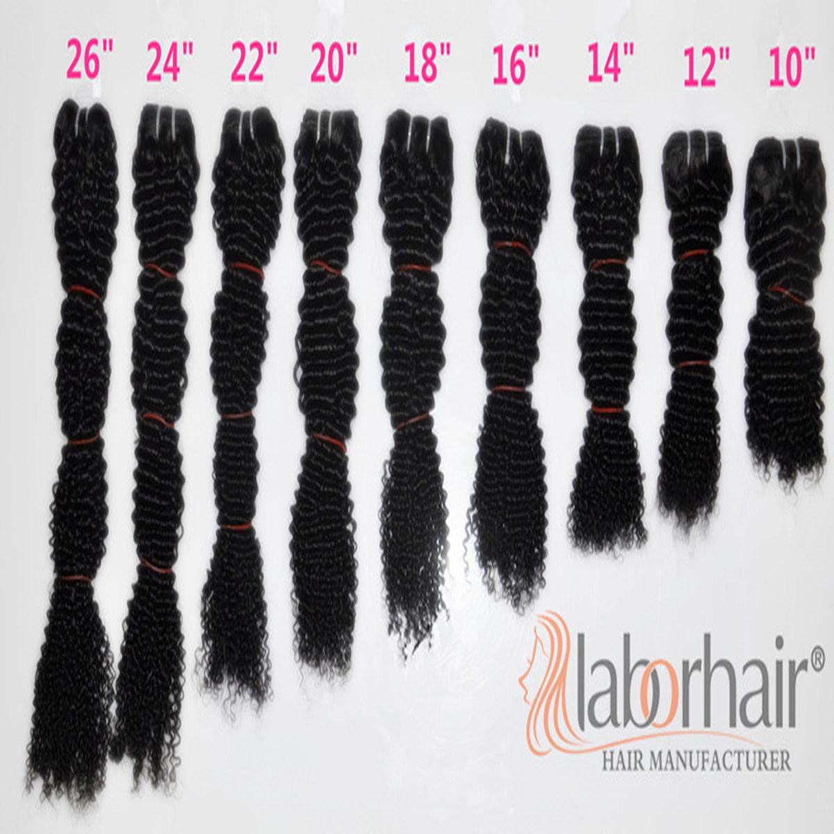 Labor Hair Products Brazilian Hair Weave Bundles Kinky Curly Virgin Hair 105g, Top Human Hair Extension Bundles
