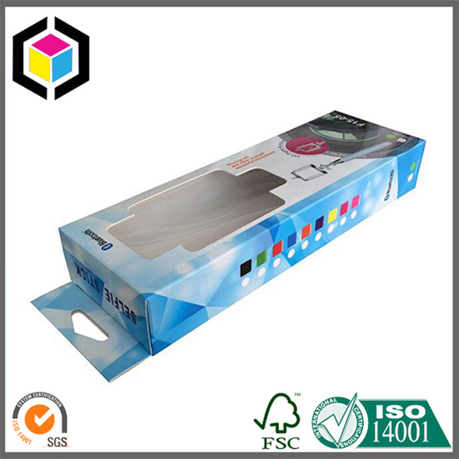 Glossy Color Hanging Tab Paper Packaging Box for Underwear