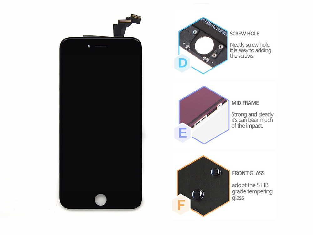 Mobile Phone Spare Parts Accessories Touch Screen LCD Display for iPhone 6 Plus