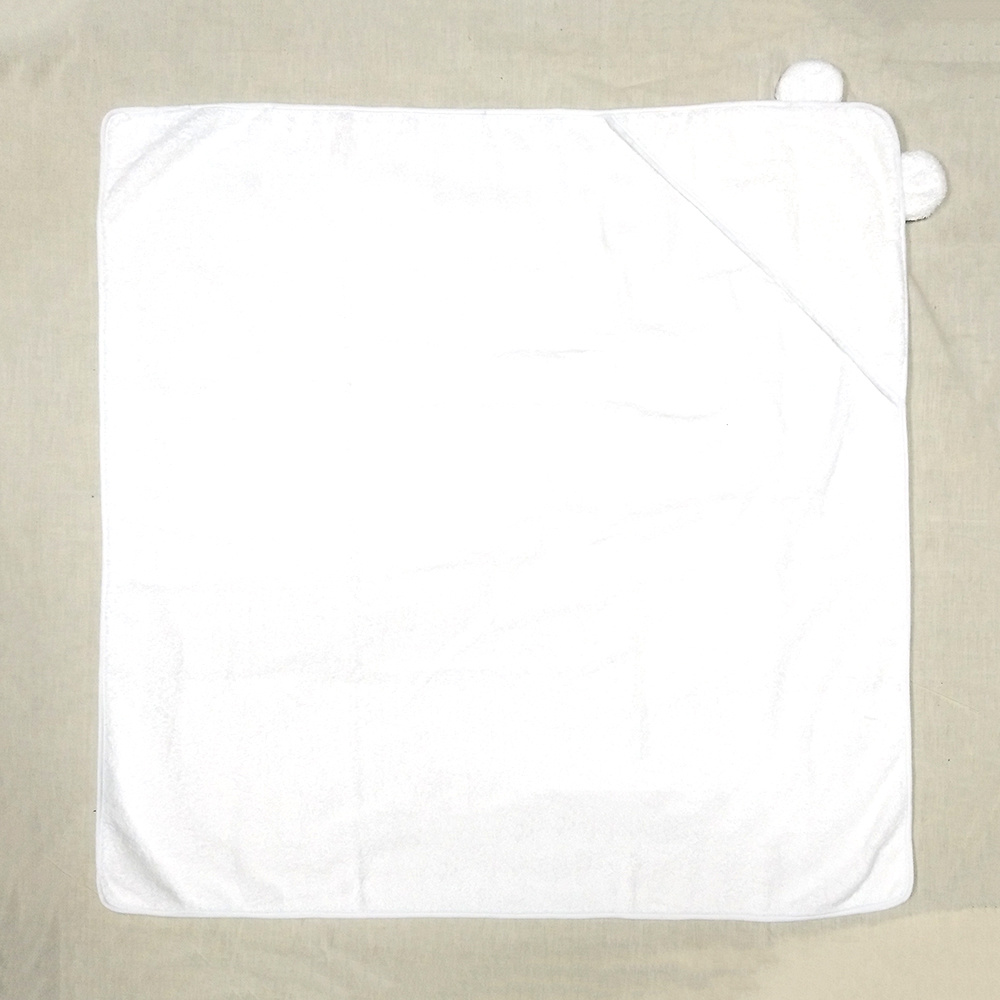 Wholesale 100% Cotton Plain Color Hooded Poncho Baby Towel