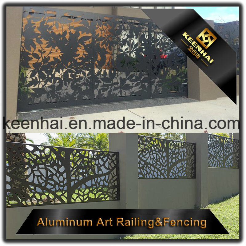 Exterior Laser Cut Aluminum Garden Iron Fence Panel for Security