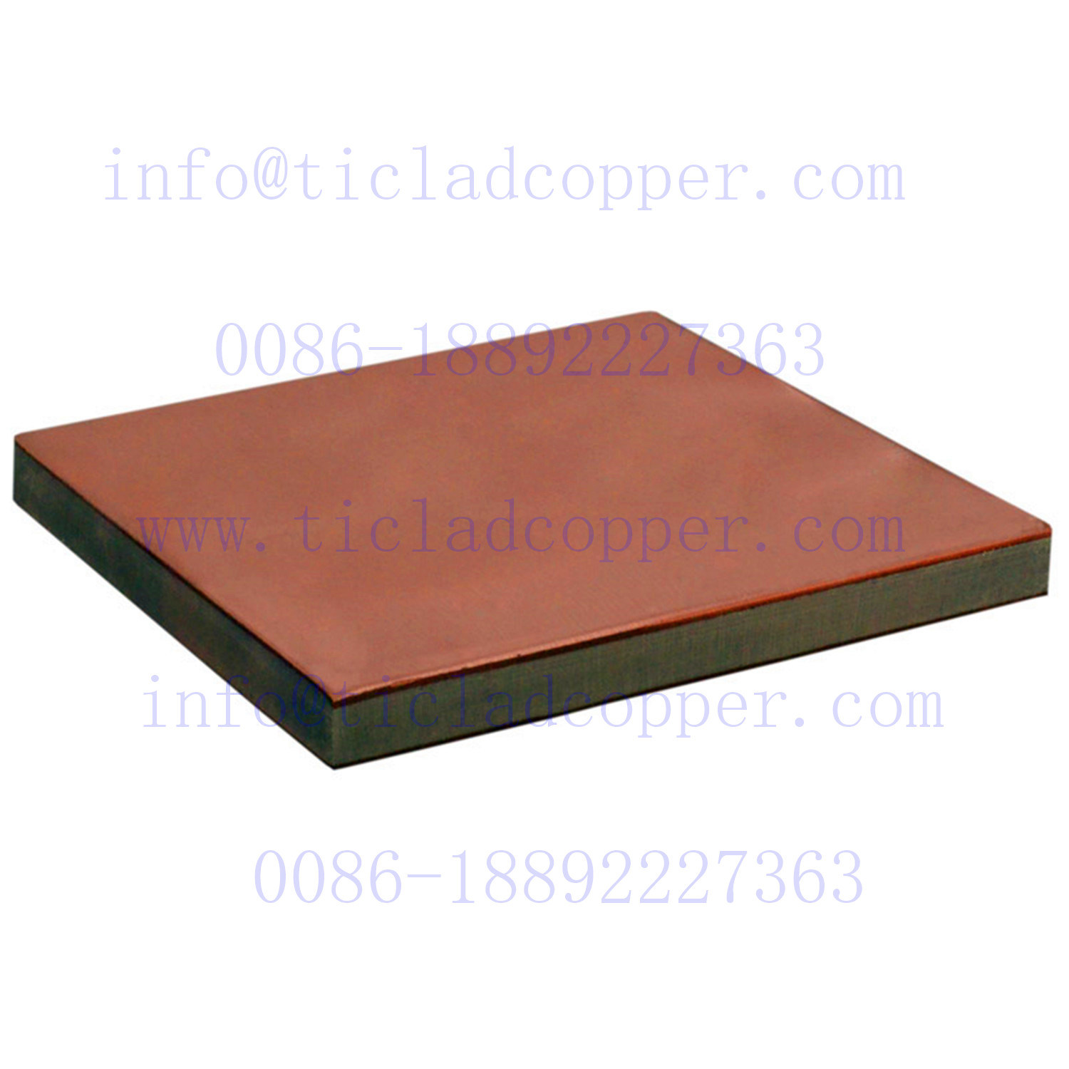 Explosion Bonding/ Metallurgical Bond Gr2 Titanium Clad Copper Plate Sheet for Surface Treatment