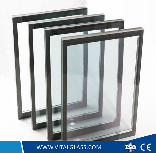 Bent Window Decorative Colored Glass/Toughened Acid Etched Patterned Glass