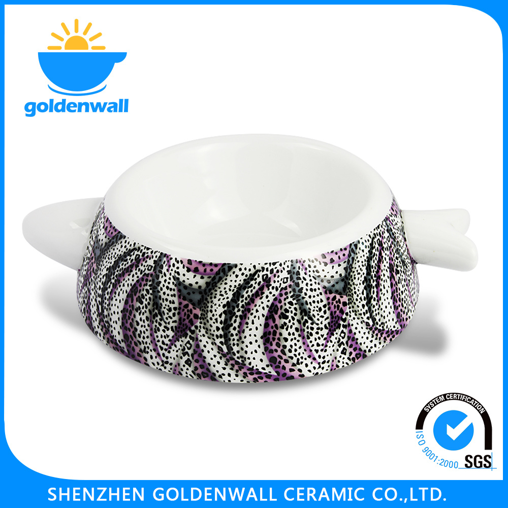 Customized Color 250ml Porcelain Cat Bowl
