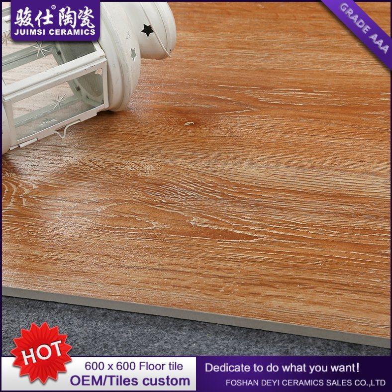 2016 Customized Non-Slip Rustic Ceramic Wooden Floor Tile