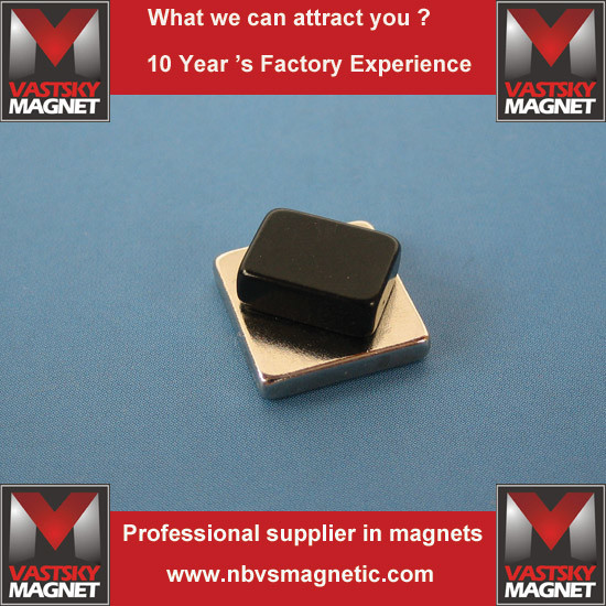 Custom N35-N52 Super Strong Permanent NdFeB Neodymium Block Magnet