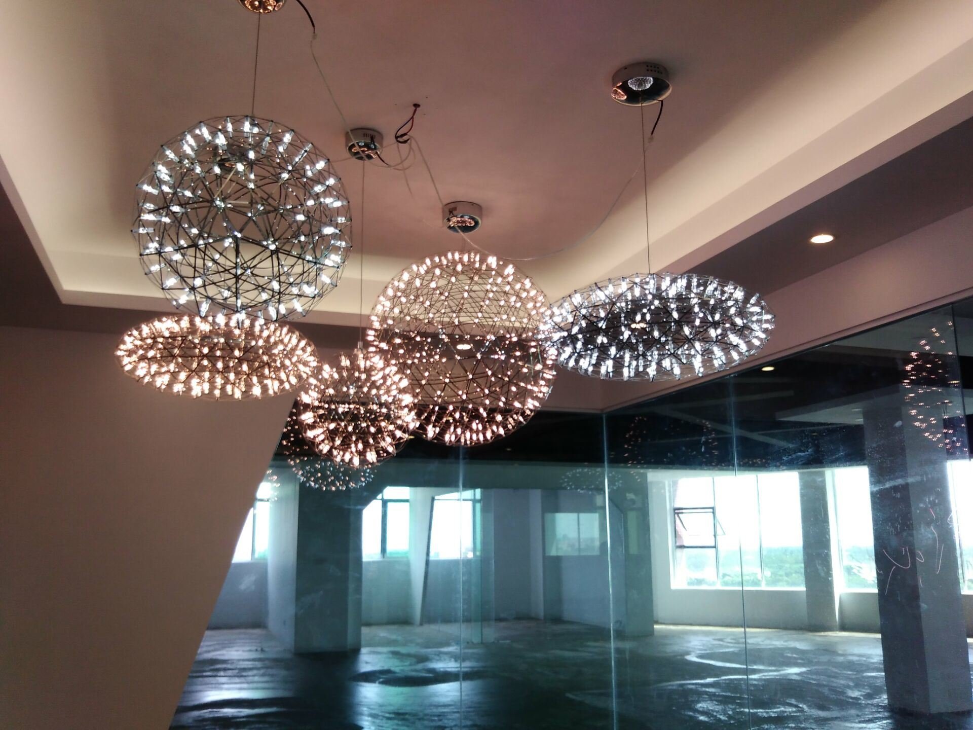 Stainless Steel Restaurant Hanging Ball Light (KAMD20850-750)