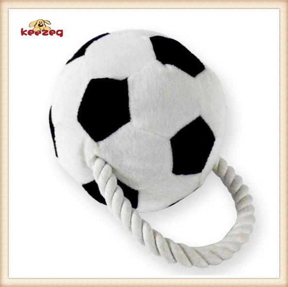 Pet Plush Toy Football Style Dog Rope Toy (KB0026)