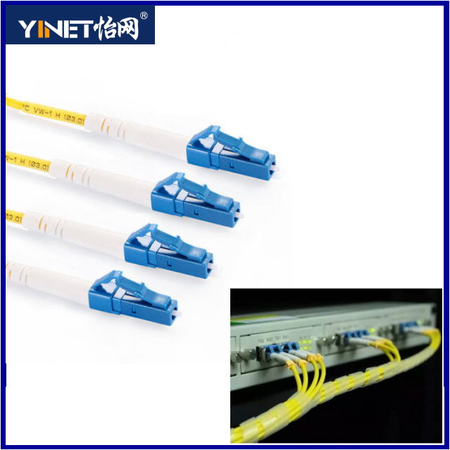 LC to LC Duplex Fiber Optic Patch Cable 3.0mm LSZH Jacket 657 Optical Fiber Based