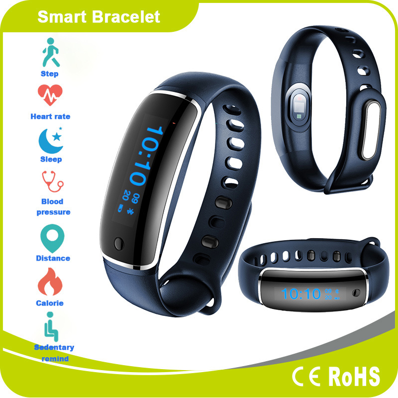 Heart Rate Blood Pressure Pedometer Sleep Monitor Android and Ios Smart Bracelet