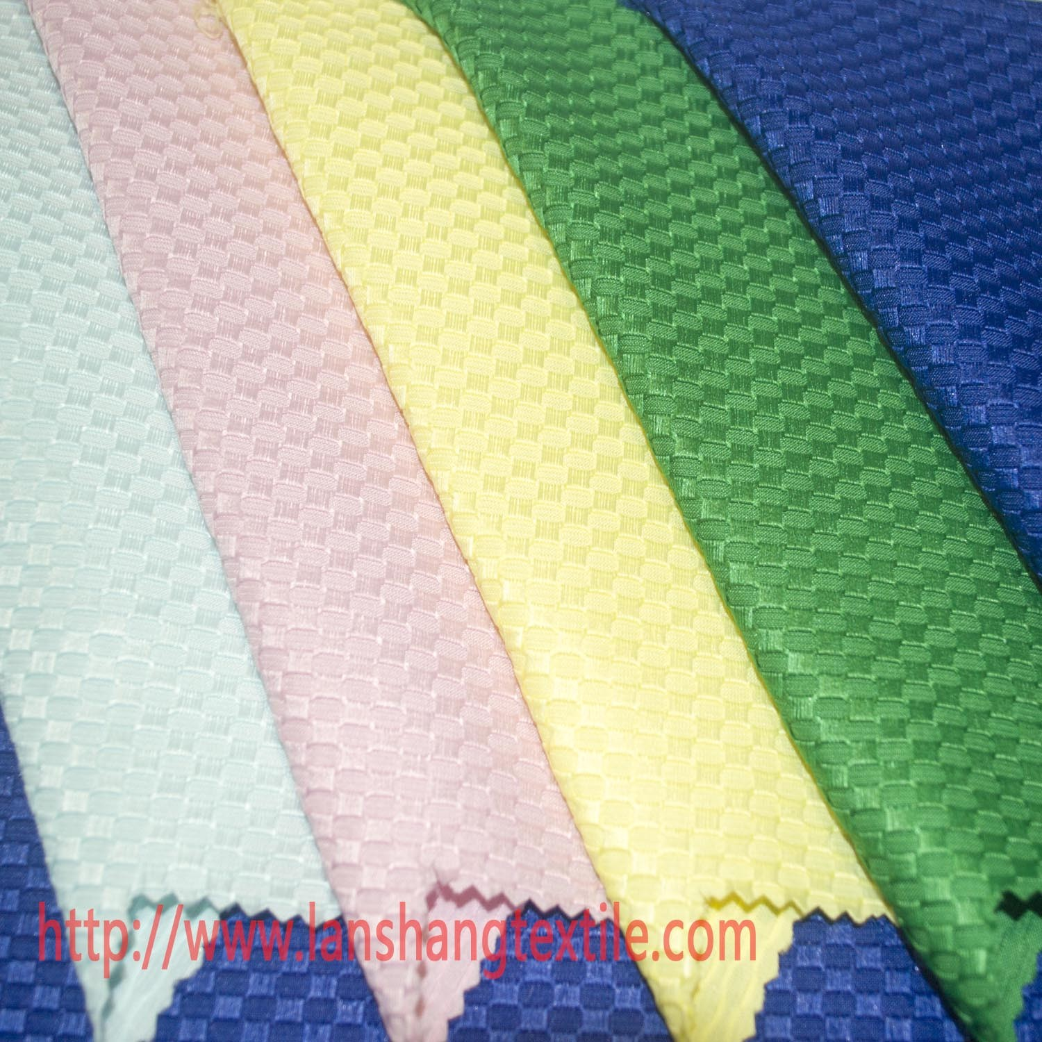 Polyester Fabric Chemical Fabric Jacquard Dyed Fabric for Garment Dress Printing