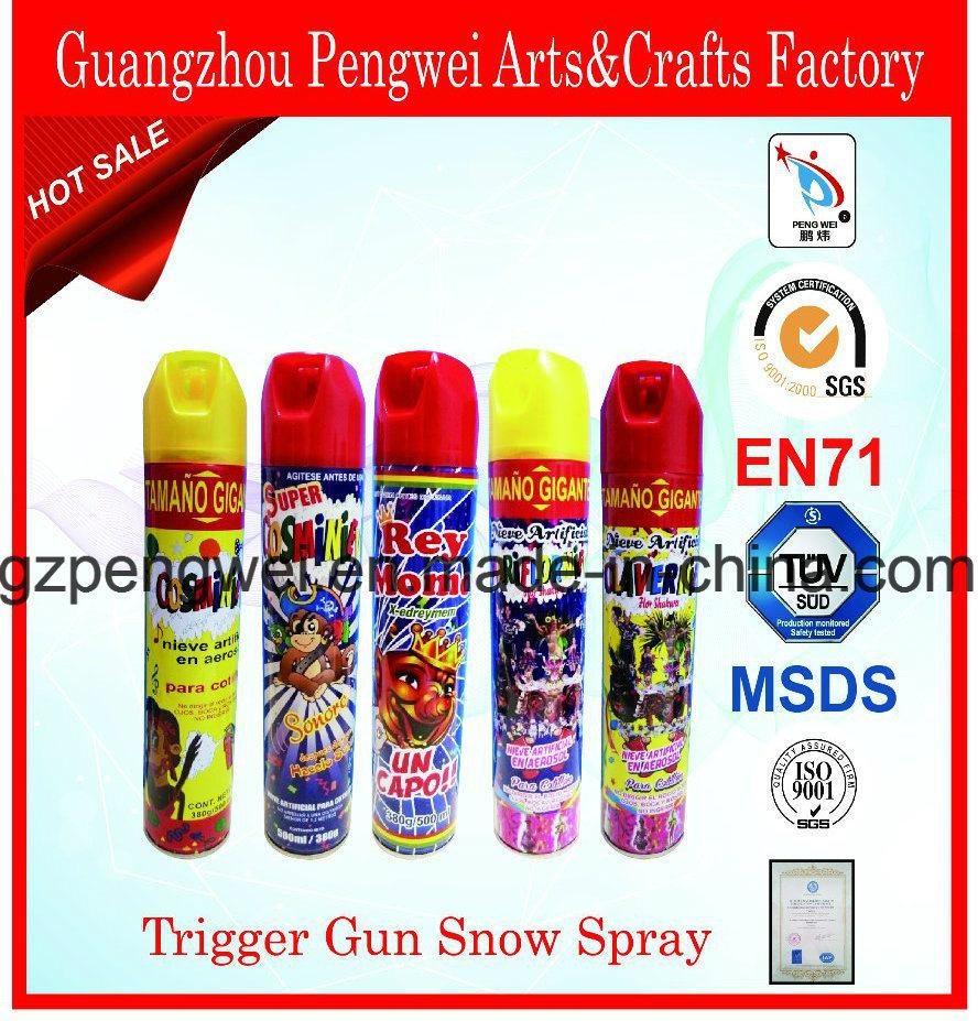 Popular Trigger Gun Snow Spray for Christmas, Festival, Carnival, Party