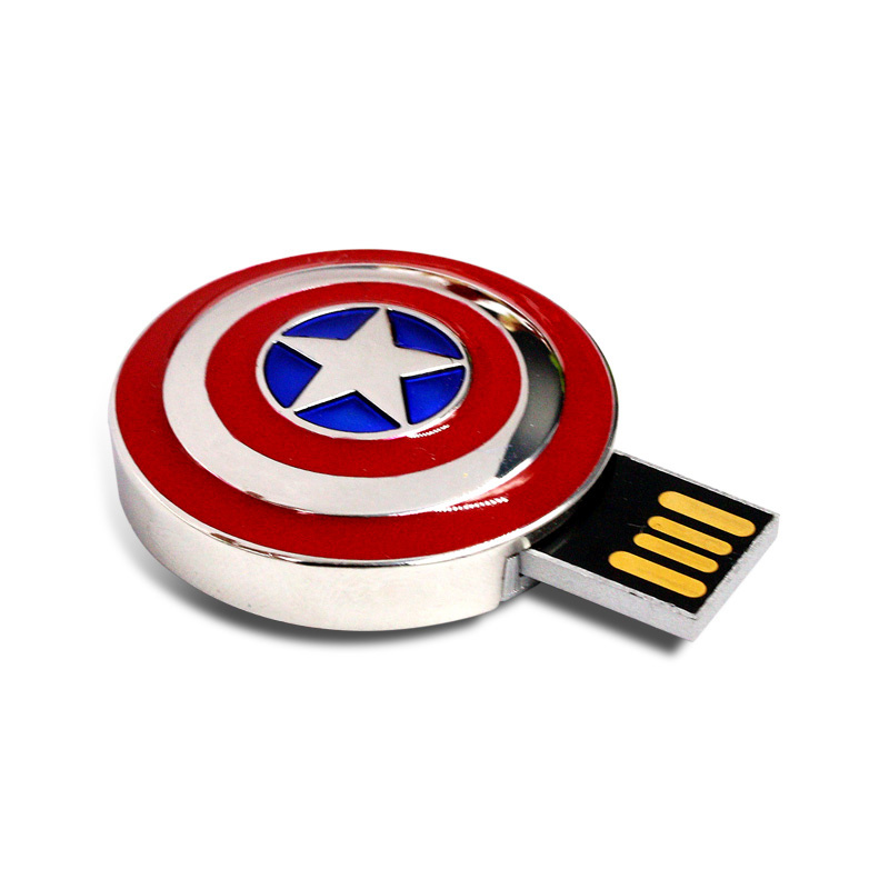 Captain America′s Shield Metal USB Flash Drive Pendrive