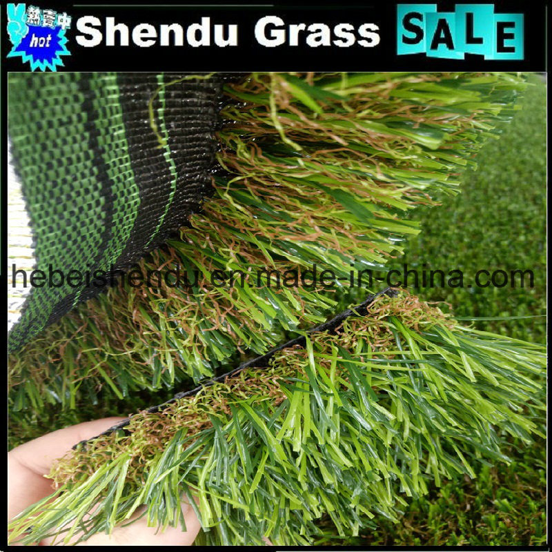 U Shape Yarn Artificial Turf with 4 Tone Color