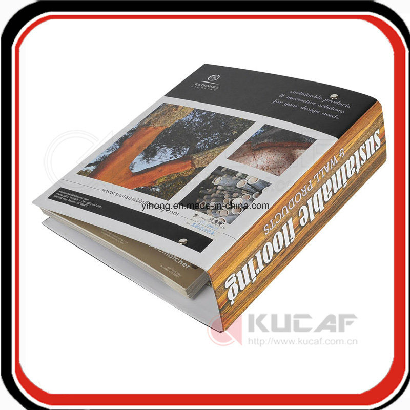 A4 Size 4c Printing Hard Cardboard Ring Binder File Folder
