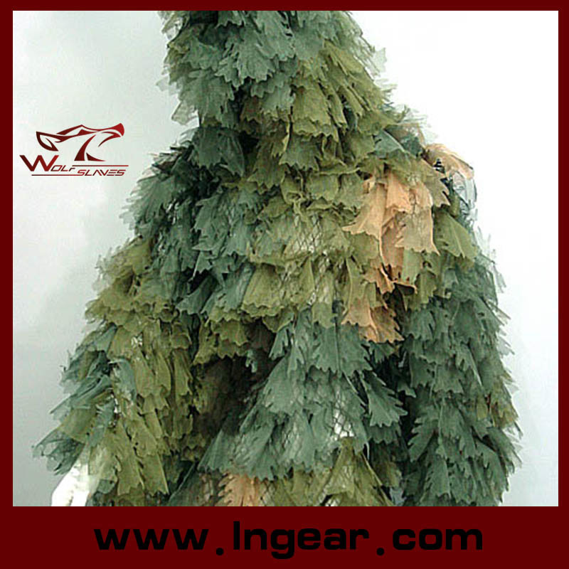 Camouflage Clothing Ghillie Suit Leaf Ghillie Suit for Sniper