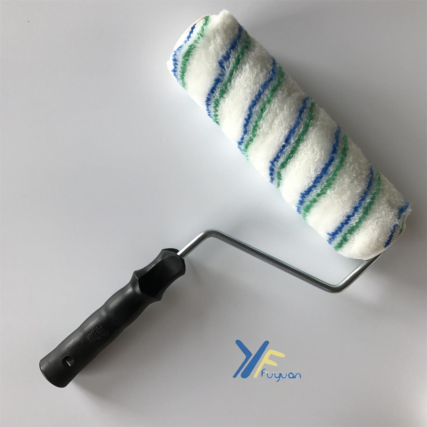"9"" 10"" Acrylic Green&Blue Stripe Roller"