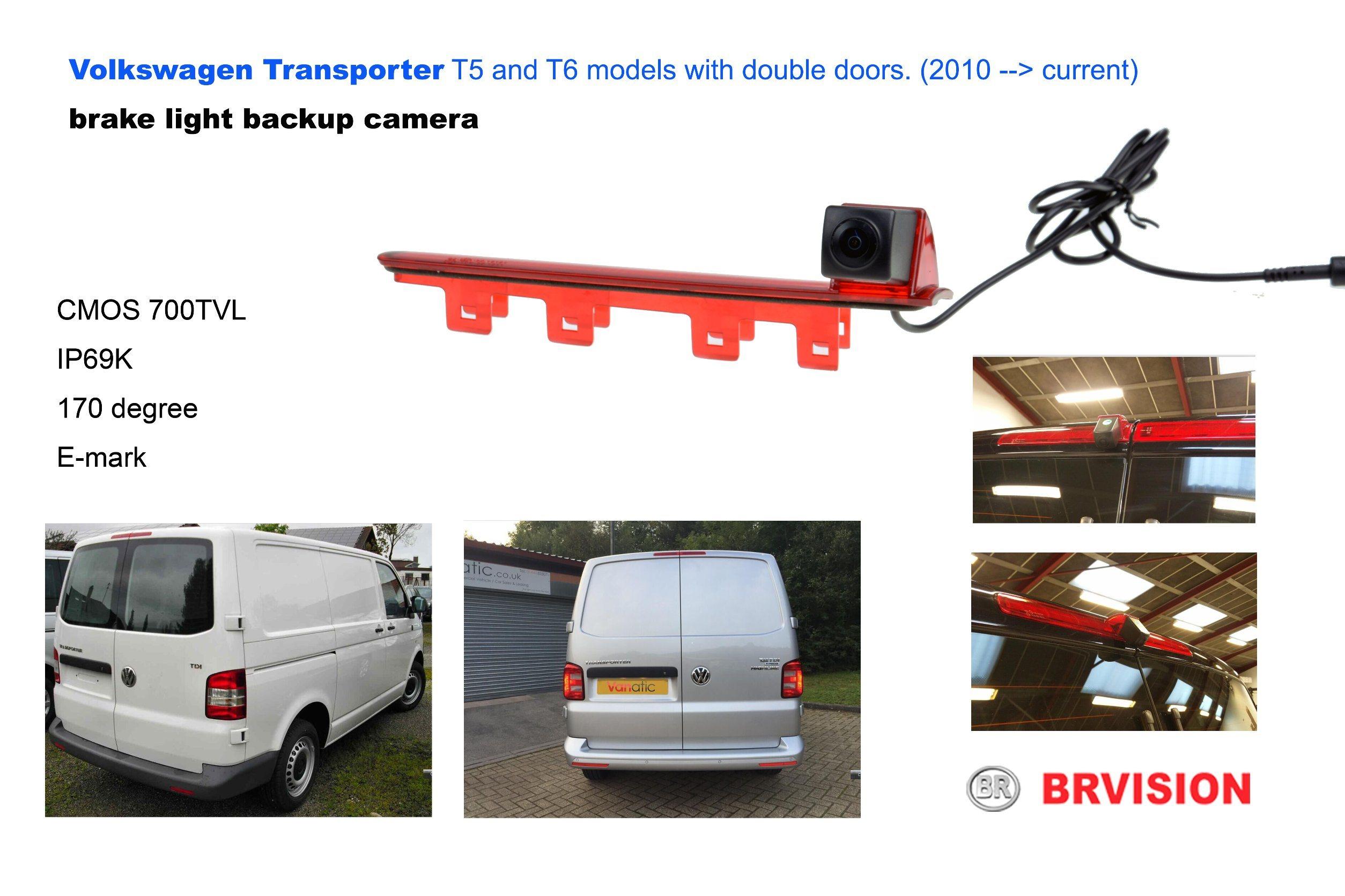 IP69k Waterproof Rating Brake Light Camera for Volkswagen Transporter