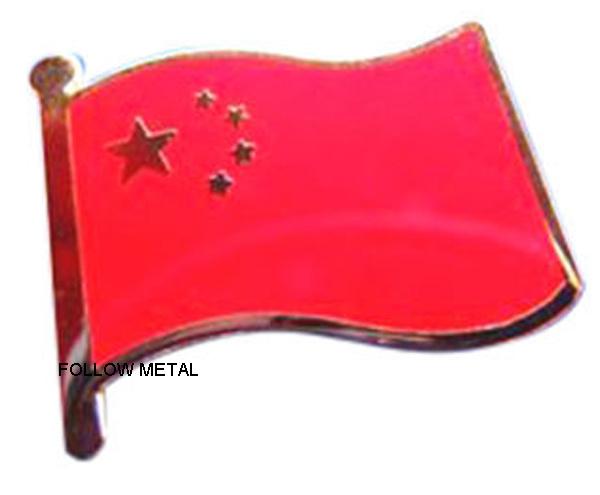 Badge with Flag Logo Imitation Hard Enamel Process