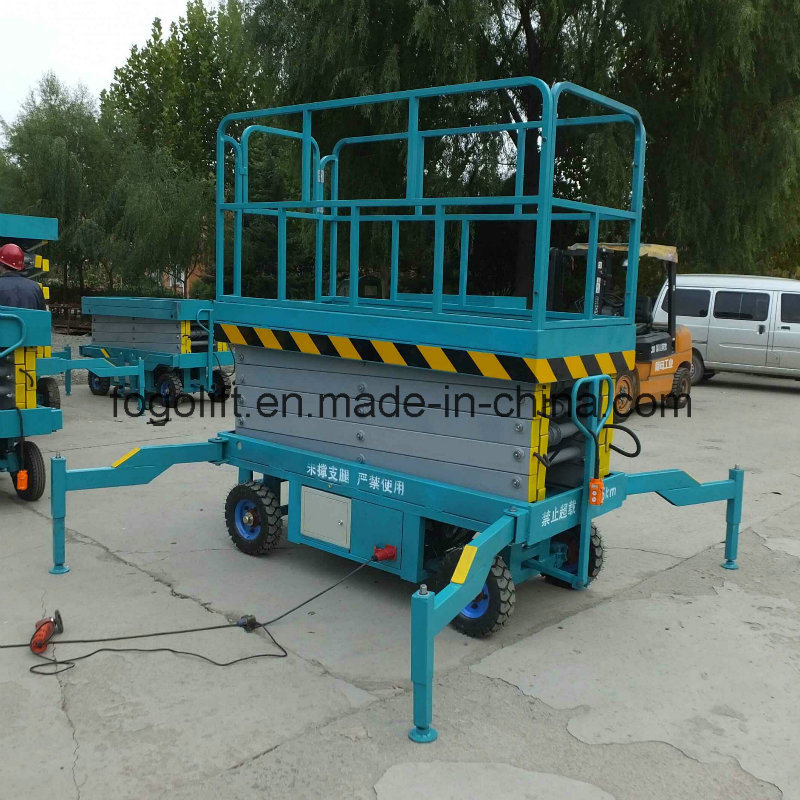8m 1000kg Mobile Scissor Lift/Hydraulic Lift/Hydraulic Ladder Lift
