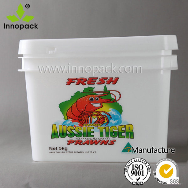 10L Rectangular Plastic Bucket for Seafood