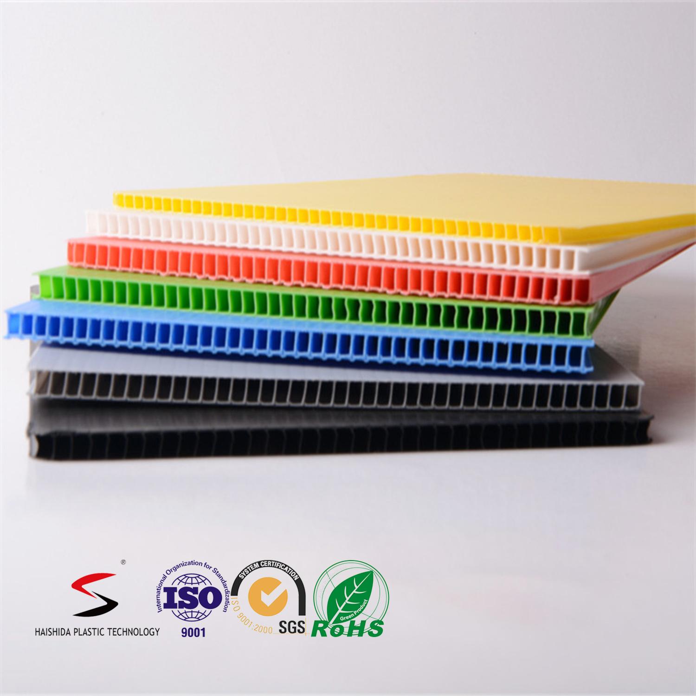 Corflute Board/ Polypropylene PP Twin Wall Corrugated Plastic Sheet 5mm