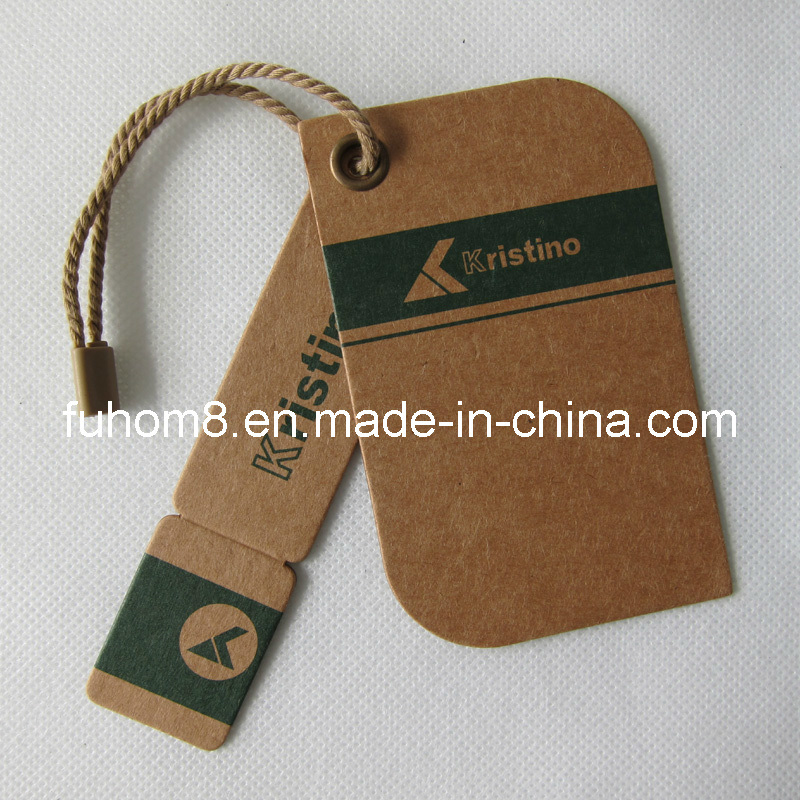 Customized Various Garment Paper Hang Tag with Plastic Seal Tag