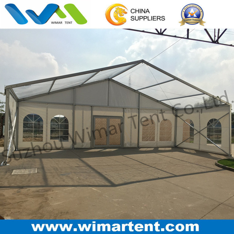 Clear Span 12m Clear Roof Tent with Glass Door