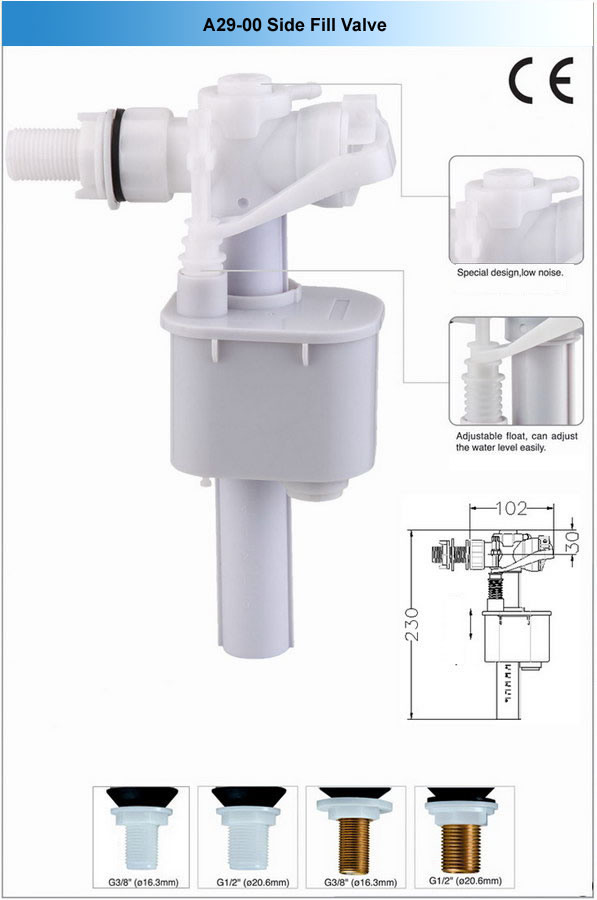 China Toilet Side Fill Valves China Fill Valve Filling Valve