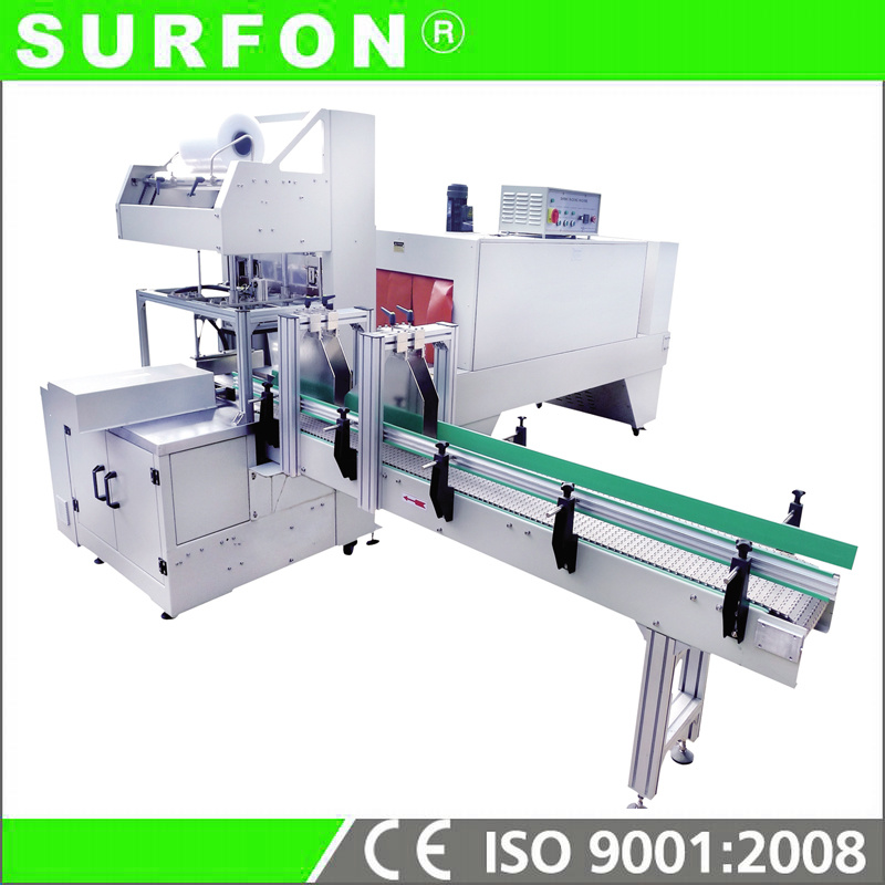 PE Film Glass Bottle Shrink Wrapping Machine