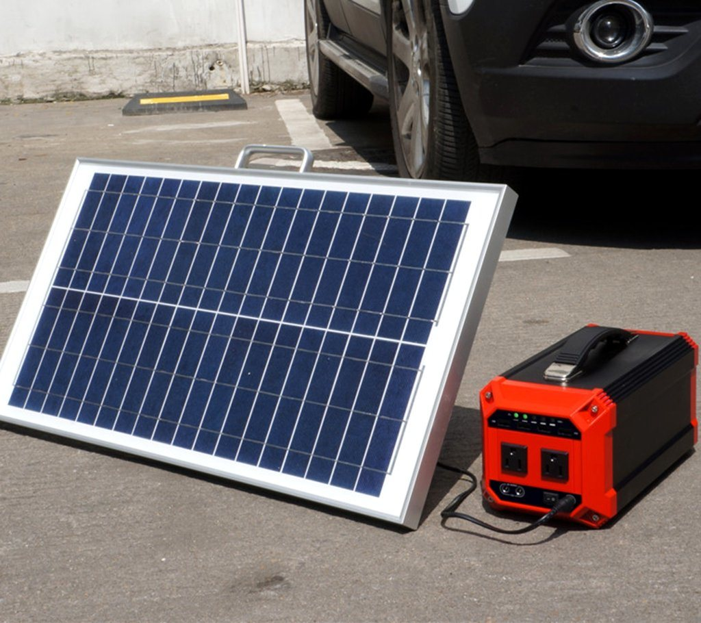 Solar Panel Kit Portable Solar Power Bank with Battery