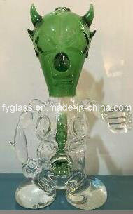 8nch New Skull Glass Fab Egg Oil Rig