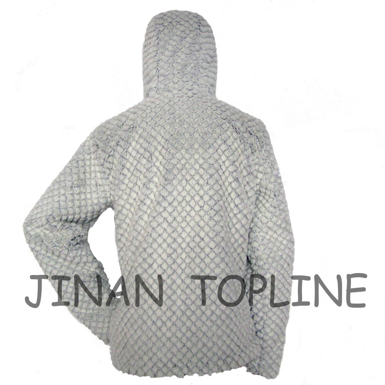 Women Fashion Long Sleeve Faux Fur Fake Fur Jacket with Hood