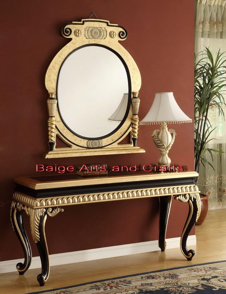 Fabulous Tableau de console en bois antique avec le miroir S-1804b# 750 x 977 · 269 kB · jpeg