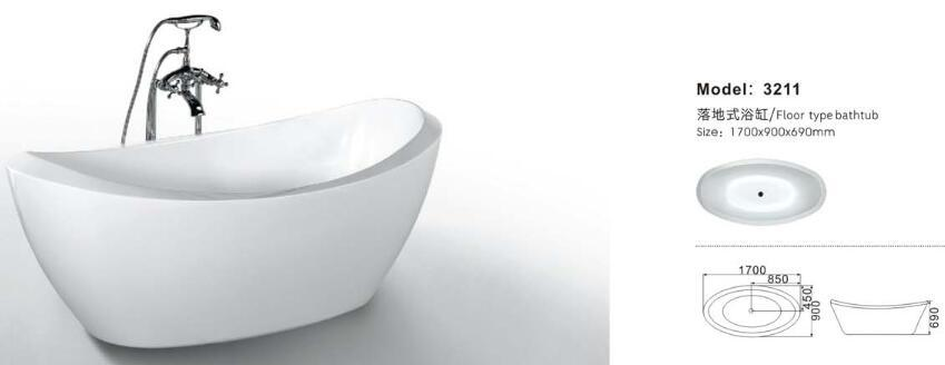 Jacuzzi Manufacturer Ce Approved Bathtub for Health