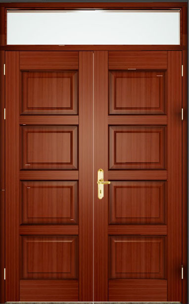 Britain/European Standard Bm Trada Wooden Door Fire Door Fire Rating 30/60/90/120minutes Safety Wood Door