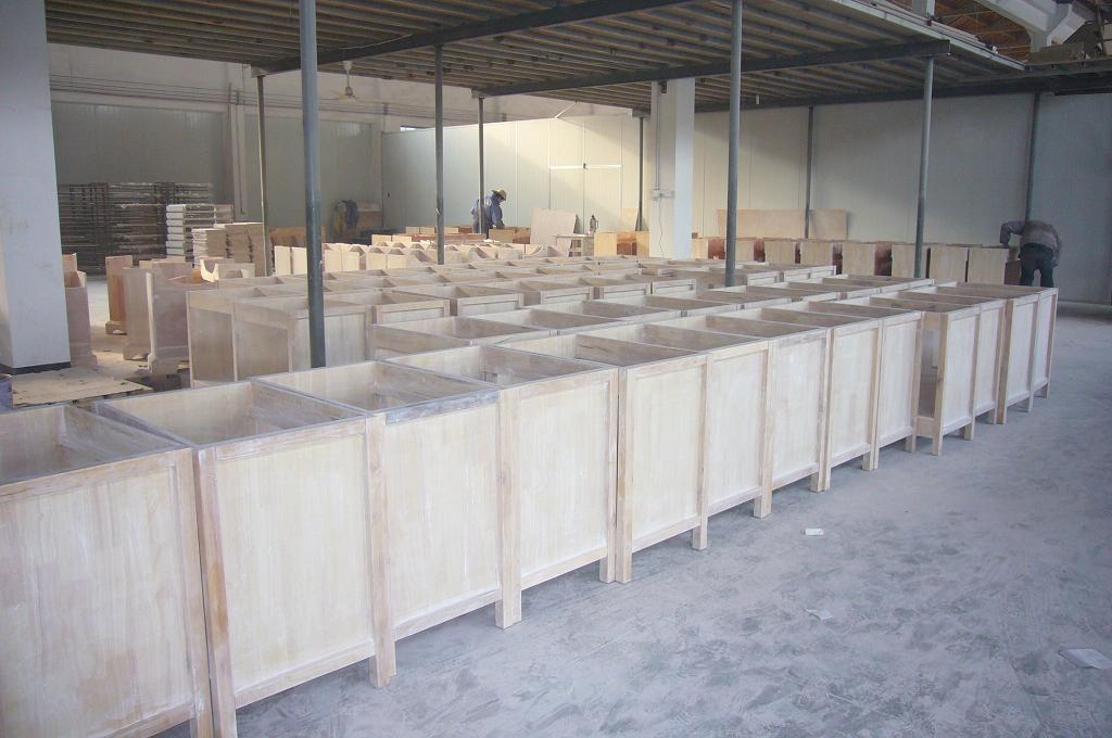 Solid Wood Bathroom Vanity Sanitary Ware Furniture