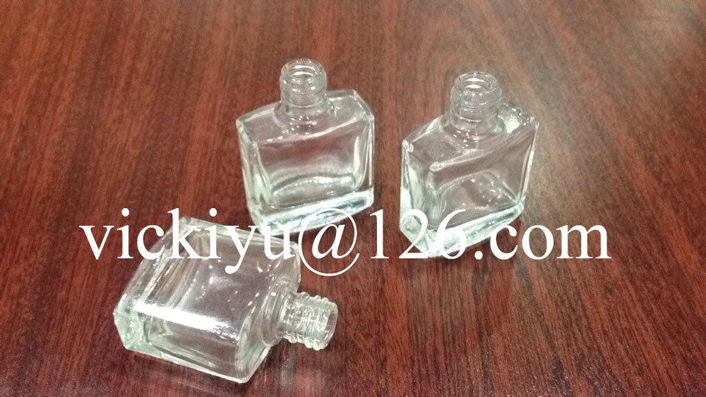 Small Square Glass Bottles for Nail Polish, Cosmetics