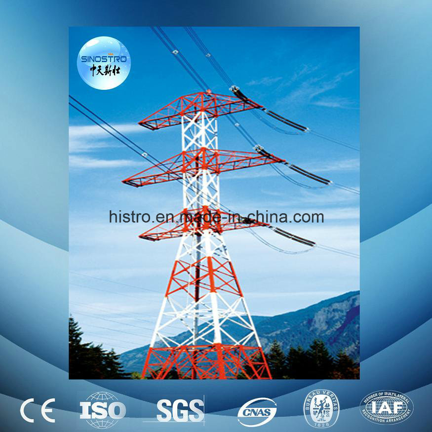 Galvanized 220kv Overhead Transmission Line Tower