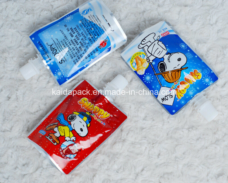 Customized Stand up Gusset Spout Food Pouch for Jelly Juice