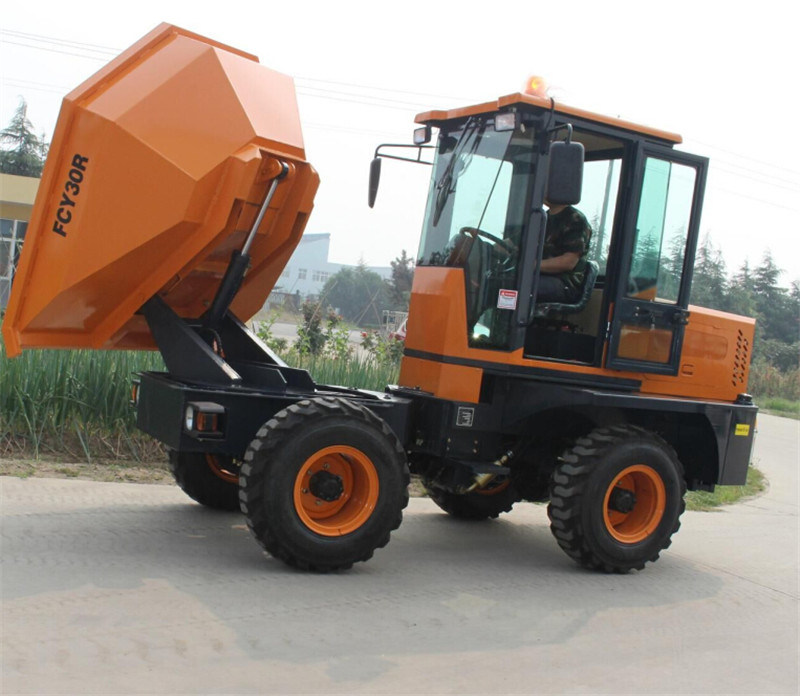 Garbage Transfer Truck 3.0ton Hydraulic Mini Site Dumper