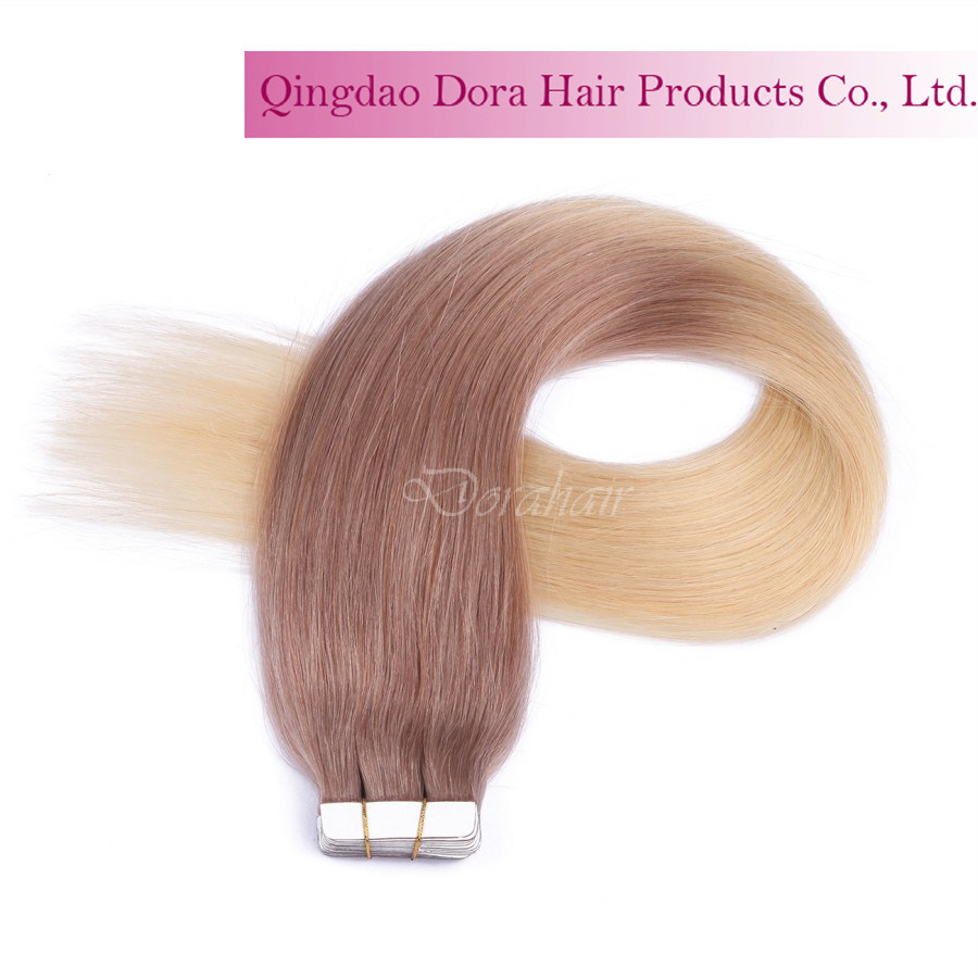 Hot Sale Tape in Hair Weft Customized Brazilian Human Hair Extension